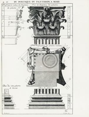 Poster Panteão de Roma X