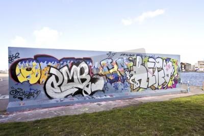 Poster Parede Graffiti em Amsterdão os Países Baixos