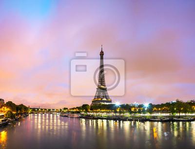 Poster Paris arquitectura da cidade com torre Eiffel