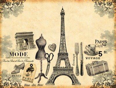 Poster Paris Fundo
