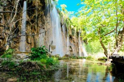 Poster Parque Nacional dos Lagos Plitvice, na Croácia