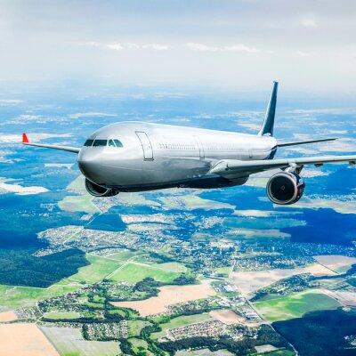 Poster Passageiro, avião, céu