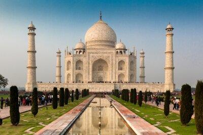 Poster Património Mundial da UNESCO Taj Mahal, Agra, Rajastão, Índia