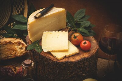 Poster Pecorino, formaggio di latte di Pecora