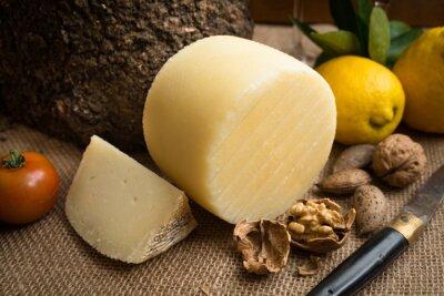 Poster Pecorino fresco, queijo duro italiano