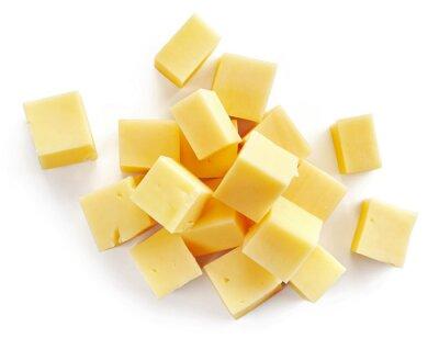 Poster pedaços de queijo