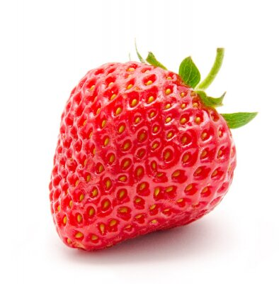 Poster Perfect red ripe strawberry isolated