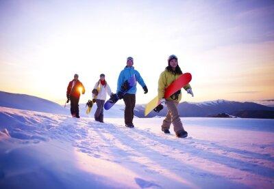 Poster Pessoas em seus Boarding Way To Neve