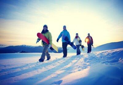 Poster Pessoas Snowboard Desporto de Inverno Amizade