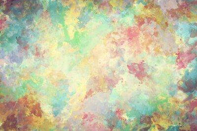 Poster Pintura colorida da aguarela na lona. Super alta resolução e qualidade de fundo