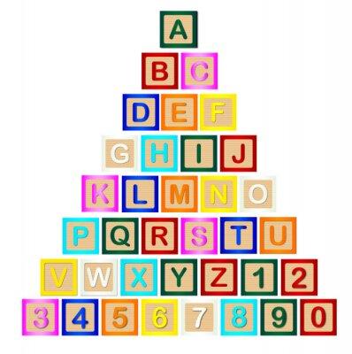 Poster Pirâmide de letra de bloco