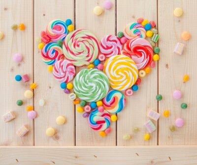 Poster pirulitos coloridos e doces