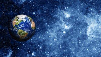 Poster planeta Terra no espaço