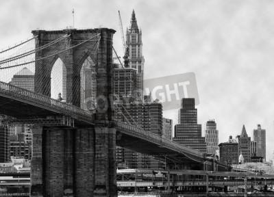 Poster Ponte de Brooklyn New York e East River