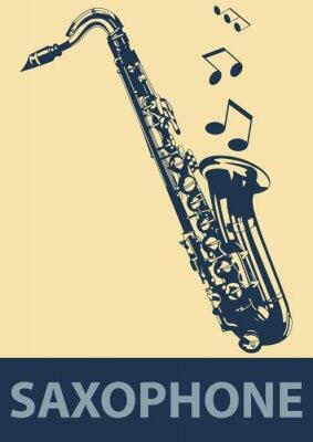Poster Pop Saxophone