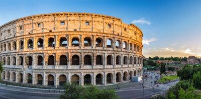 Poster por do sol no Coliseu - Roma - Itália