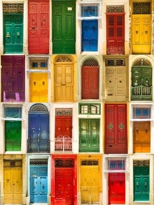 Poster portas dianteiras coloridas para casas