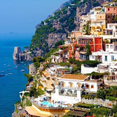 Poster Positano, Itália. Costa Amalfitana