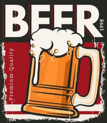 Poster Poster cerveja retro