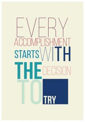 Poster Poster inspirador para um bom início