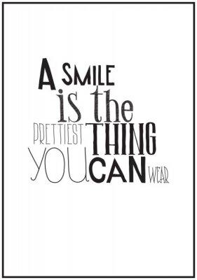 Poster Poster preto e branco simples com uma frase motivacional