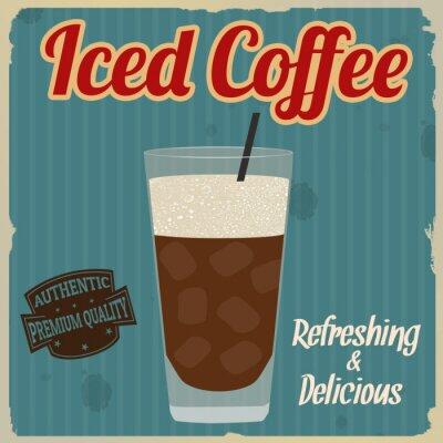 Poster Poster retro congelado do café