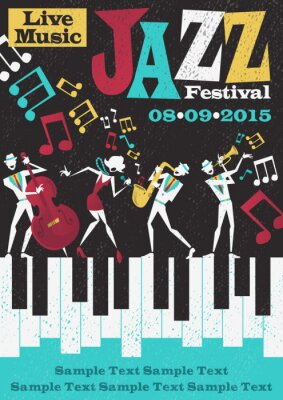 Poster Poster Retro Jazz Festival Abstract