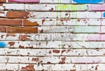 Poster Preenchimento velho muro de graffiti
