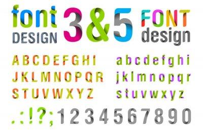 Poster Projeto da fonte. Alfabeto da fita. vetor.