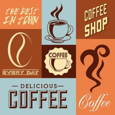 Poster Projeto delicioso do café