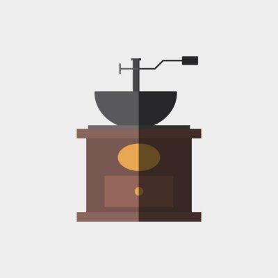 Poster Projeto do ícone do café