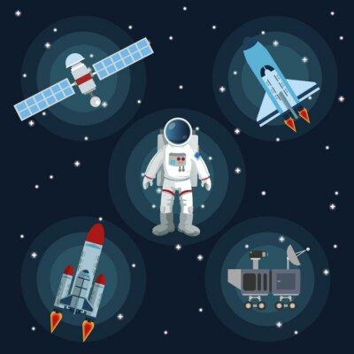 Poster Projeto do ícone do espaço