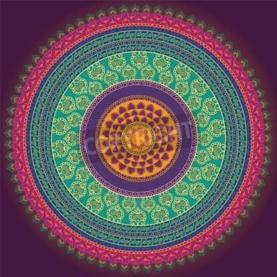 Poster Projeto Mandala Henna colorido, muito elaborada e facilmente editáveis
