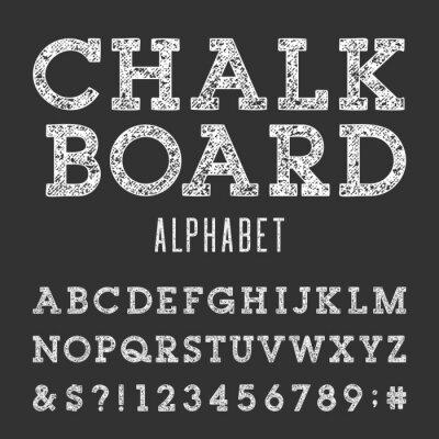 Poster Quadro do alfabeto Vector Font