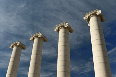 Poster Quatro pilares, Barcelona