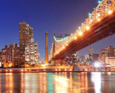 Poster Queensboro Bridge e Manhattan