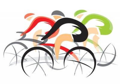 Poster Raça de bicicleta