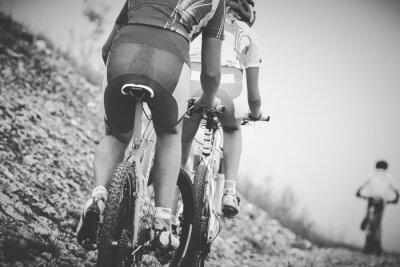 Poster Ragallo ciclista gara di mountainbike