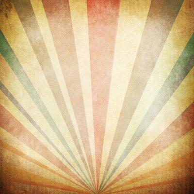 Poster Raios de sol vintage Fundo