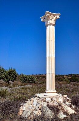 Poster Reconstrução de colunas coríntias na ilha de Kos, na Grécia.