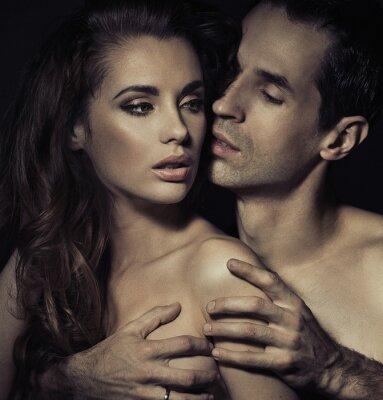 Poster Retrato de um jovem casal sensual