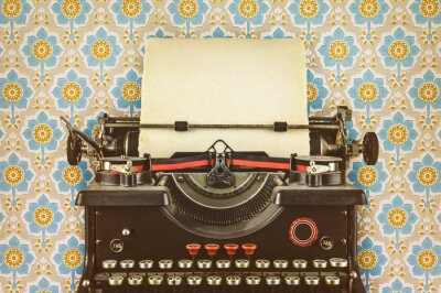 Poster Retro, denominado, imagem, velho, máquina de escrever