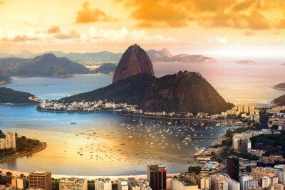Poster Rio De Janeiro, Brasil no crepúsculo