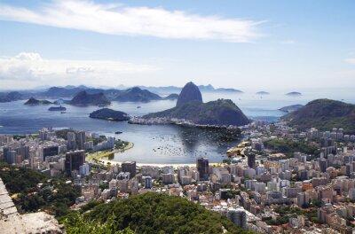 Poster Rio de Janeiro. General view of the city.