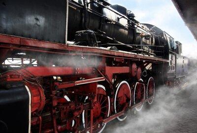 Poster Rodas de locomotiva velhas