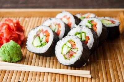 Poster Rolo de sushi vegetariano