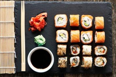 Poster rolos de sushi