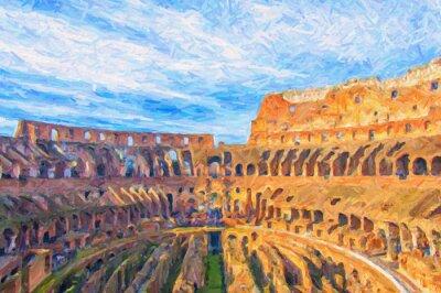 Poster Roma Colosseum Pintura Digital