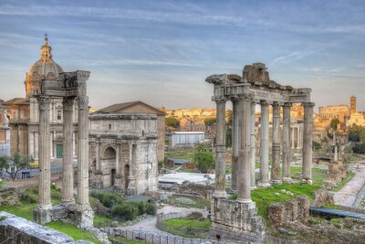 Poster Roman Forum do sol HDR