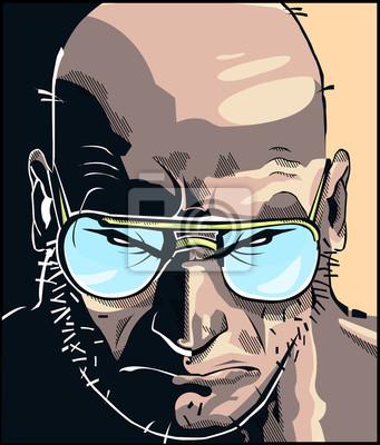 Poster Rostro comic